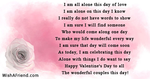 valentines day alone poems things to say on valentines day