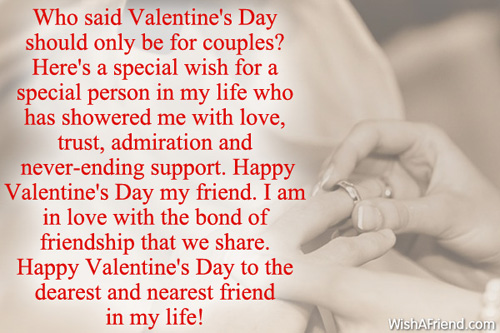 Who Said Valentine S Day Should Only Valentines Day Message For Friends