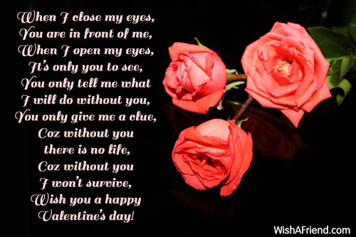 valentine poems for her, Ideas