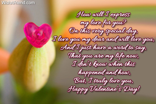 Valentine Poems for Him