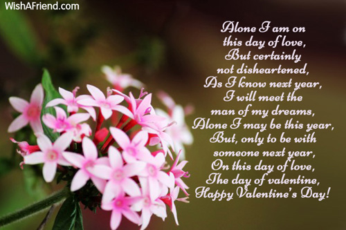 7345 Valentines Day Alone Poems