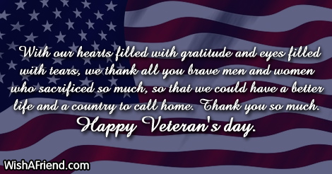 Can you say happy veterans day