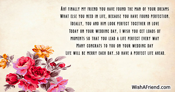 19460 Wedding Wishes