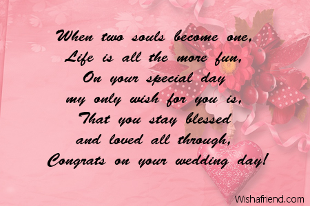 When Two Souls Become One Life Wedding Message