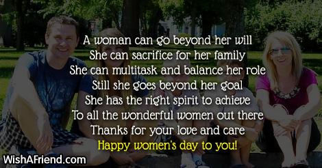 Women's Day Poems