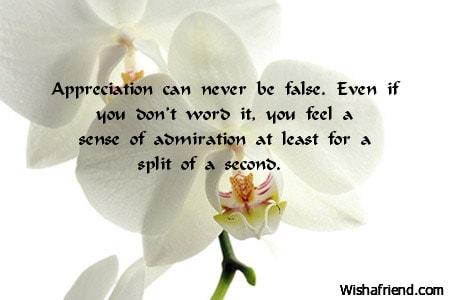 3184 words about appreciation
