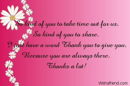 word of thank you