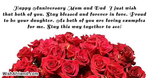 Happy Anniversary Mom And Dad I Anniversary Message For Parents