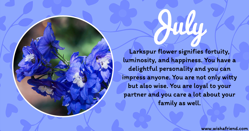 Your Birth Flower Is July