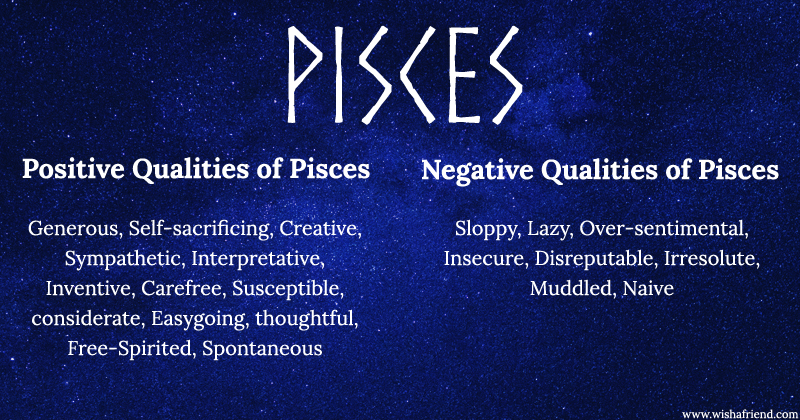 Find Positives and Negatives of your Zodiac Sign- Pisces