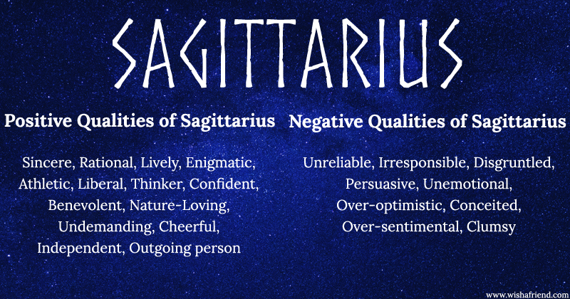 Find Positives and Negatives of your Zodiac Sign- Sagittarius