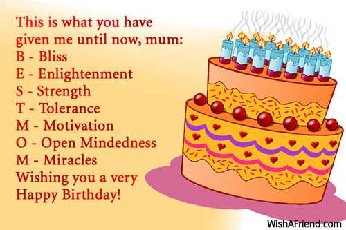 This is what you have given birthday wishes for mom 1020 mom birthday wishes m4hsunfo