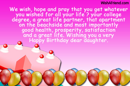 1054 daughter birthday wishes