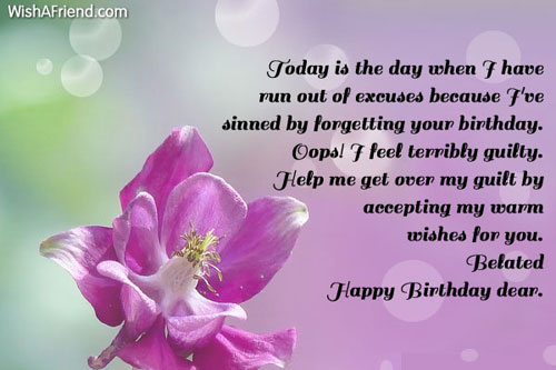 Today Is The Day When I Belated Birthday Wishes