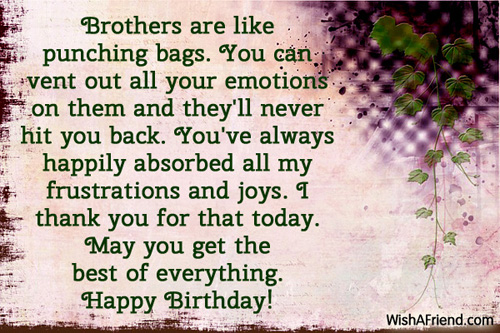 1097 Brother Birthday Wishes