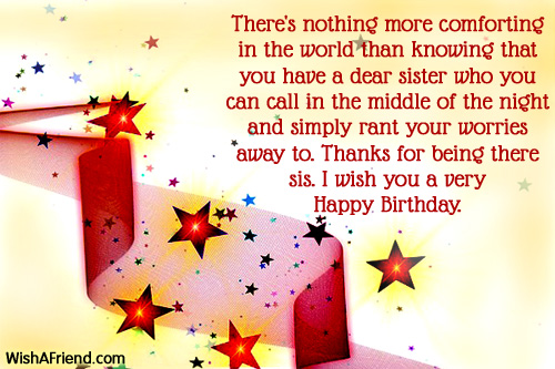 1112 Sister Birthday Wishes