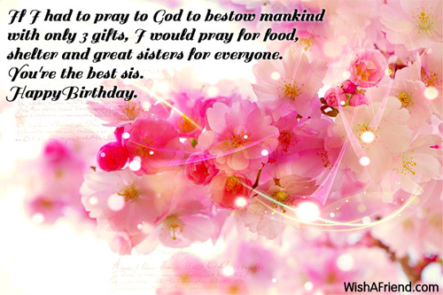 1116 Sister Birthday Wishes