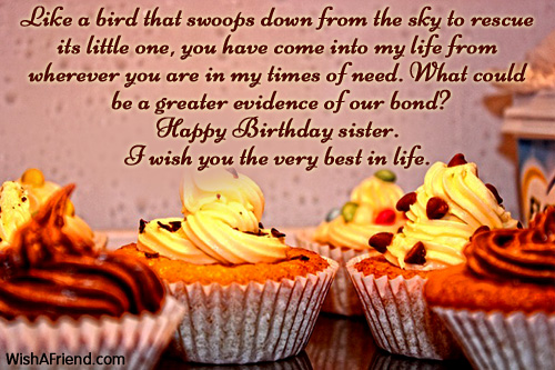 1119 Sister Birthday Wishes