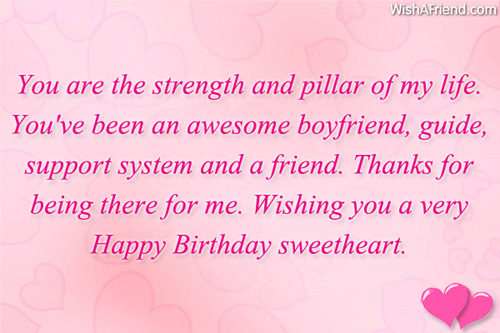 Thank you birthday message for boyfriend