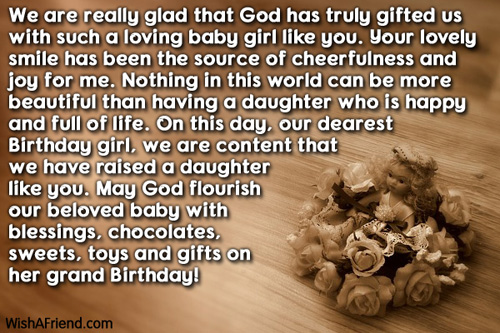 We Are Really Glad That God Daughter Birthday Message
