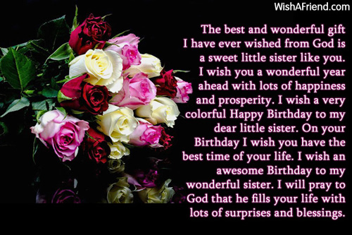 Sister Birthday Messages Page 4 – Sister Birthday Greetings Message