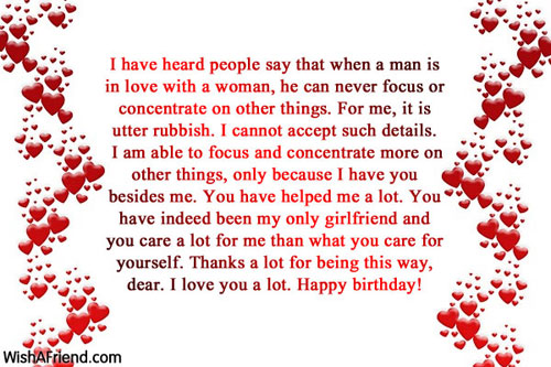 11824 Birthday Wishes For Girlfriend