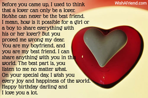 11833 Birthday Wishes For Boyfriend