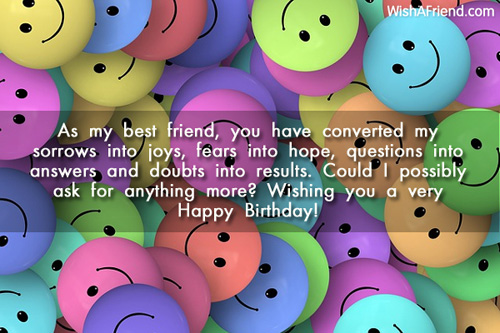 1206 Best Friend Birthday Wishes
