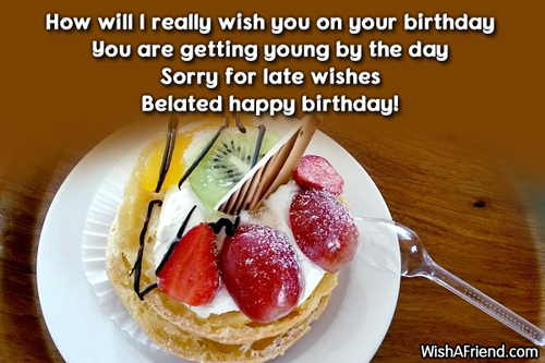 12233 Late Birthday Wishes