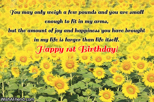 1230 1st Birthday Wishes