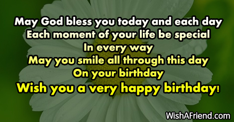 May God Bless You Today And Christian Birthday Greetings