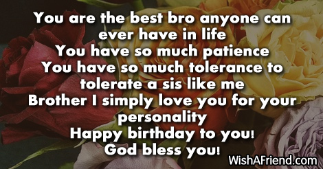 13116 Brother Birthday Wishes