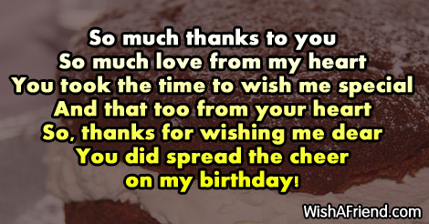 So much thanks to you so thank you for the birthday wishes 13156 thank you for the birthday wishes m4hsunfo