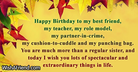 13208 Sister Birthday Wishes Happy To My