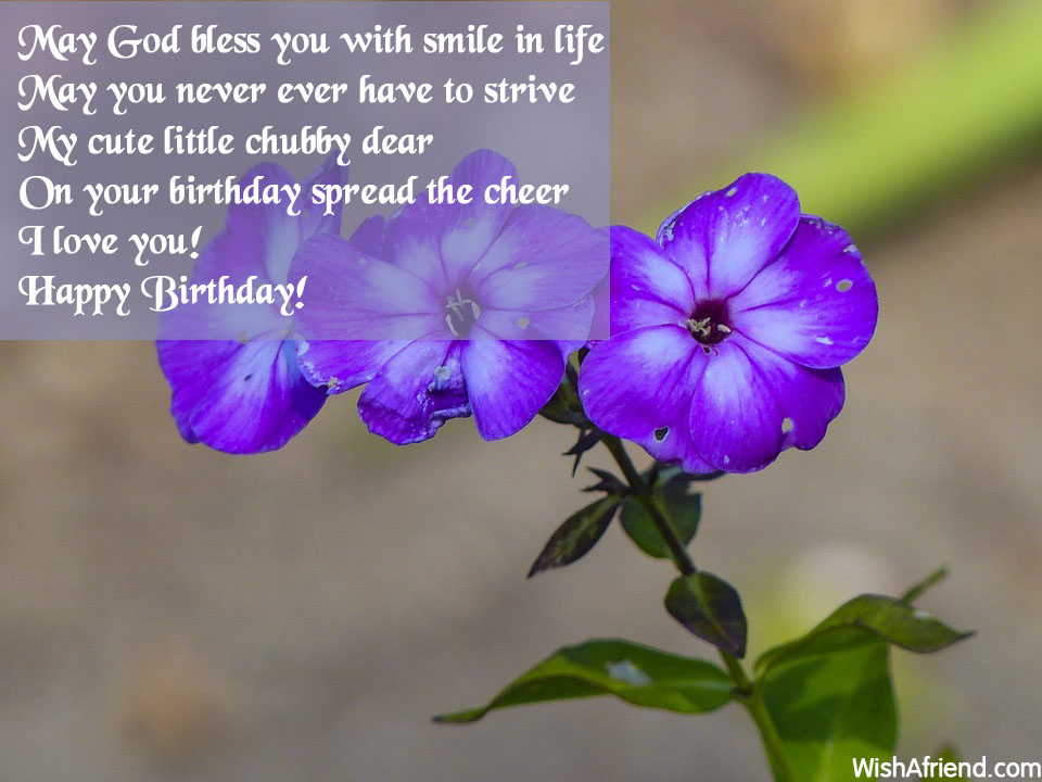 May God Bless You With Smile Birthday Wishes For Kids
