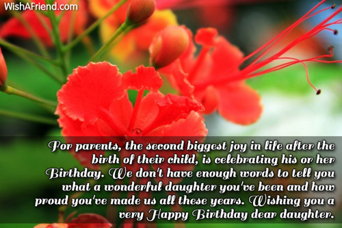 1407 Daughter Birthday Messages For Parents