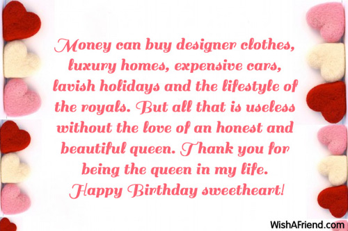 Money can buy designer clothes luxury Wife Birthday Message – Wife Birthday Greetings