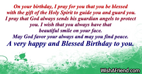 On your birthday I pray for Christian Birthday Greetings – Christian Birthday Greetings