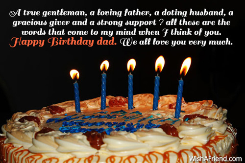 A True Gentleman Loving Father Dad Birthday Message