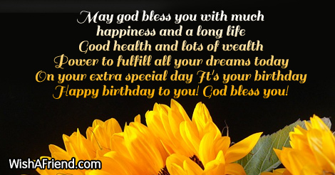 May God Bless You With Much Christian Birthday Wishes