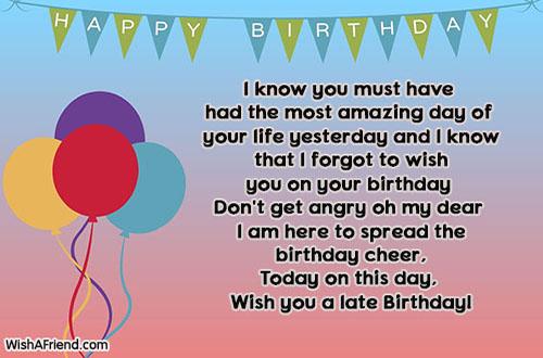 15141 Late Birthday Wishes