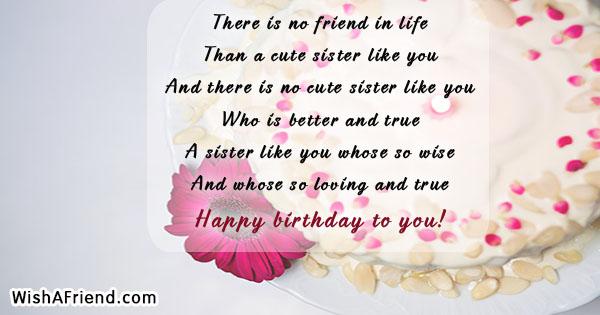 15538 sister birthday sayings