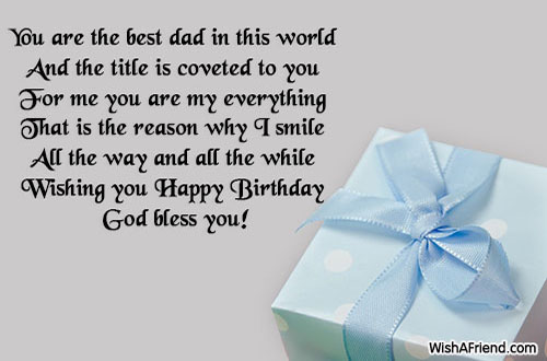 You Are The Best Dad In Birthday Wish For Dad