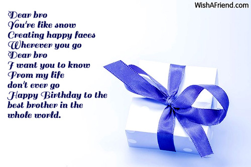 1609 brother birthday messages