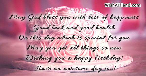 May God Bless You With Lots Birthday Greetings Quote