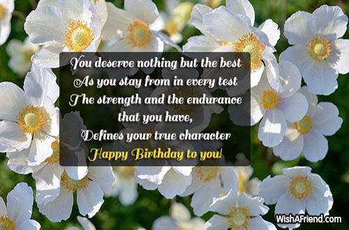 You Deserve Nothing But The Best Birthday Quote For Women