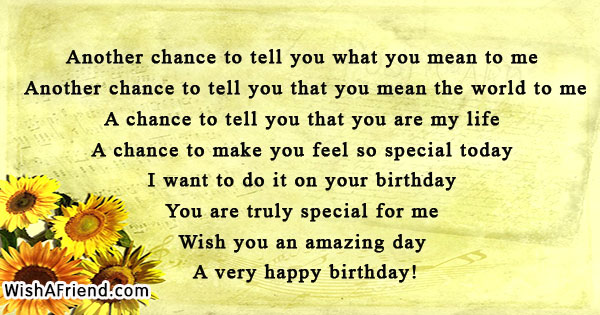 Another Chance To Tell You What Sweet Birthday Quote