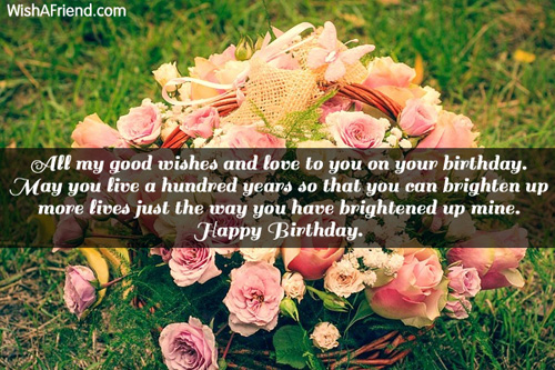 All my good wishes and love Happy Birthday Greetings – Live Birthday Greetings