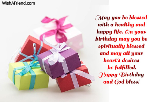 may you be blessed with a christian birthday greetings