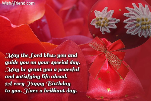 May the Lord bless you and Christian Birthday Greetings – Christian Birthday Greetings